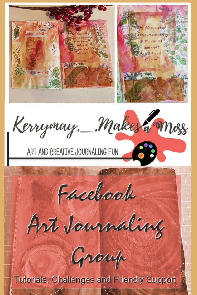 A creative Facebook Group for Art Journaling and Creative Journaling. A relaxing place to share your creations and to get involved and get inspiration from each other, without the limits of lots of rules - Kerrymay._Makes A Mess