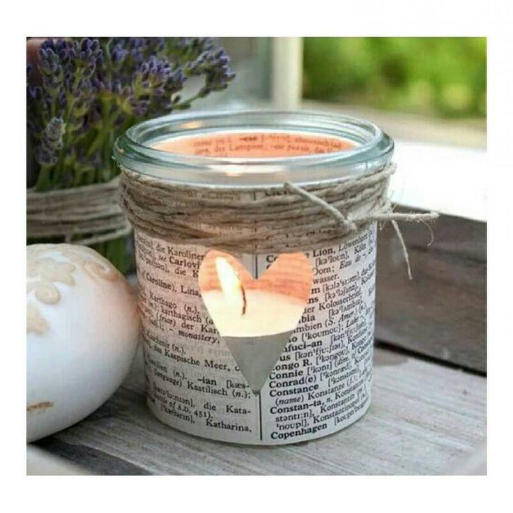 """Matching with the autumn's romance #diy #candle #handleholder #autumn #fall #home #doityourself #diyideas #diyfrique"""