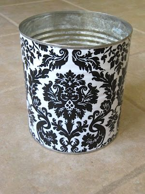 Sew Many Ways...: Vinyl Covered Recycled Cans...
