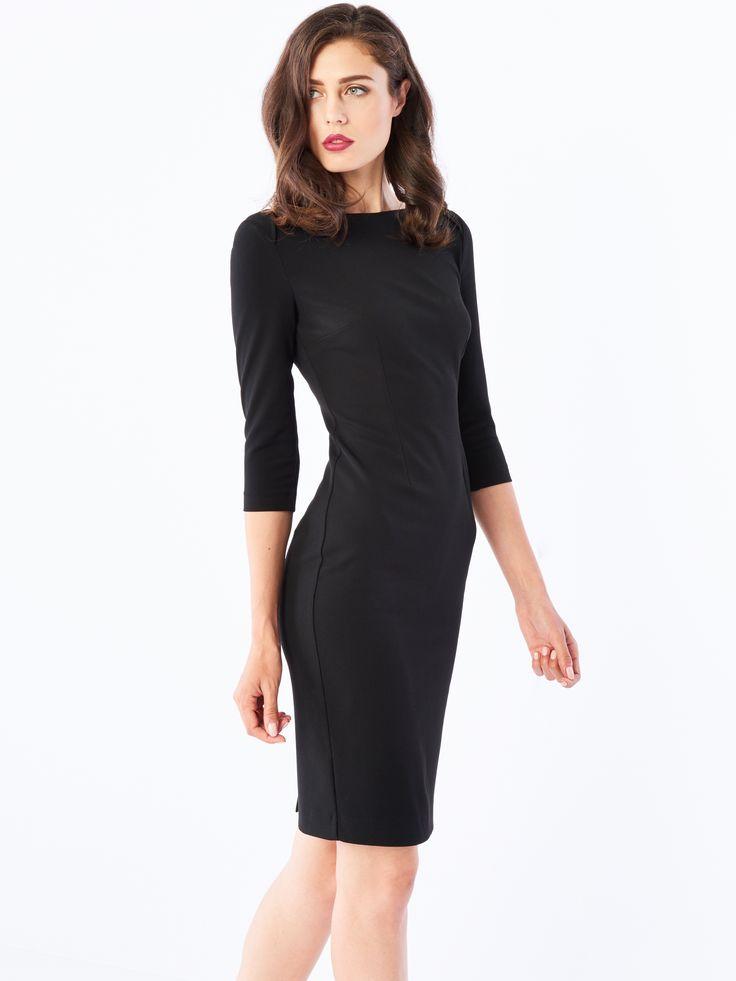 Ołówkowa sukienka, SUKIENKI, KOMBINEZONY, czarny, MOHITO