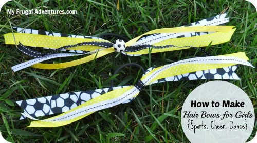 Quick and easy ponytail ribbons for girls.  These are perfect for dance, soccer, cheer... support your favorite pro sports team, Disney trips... the list goes on and on!