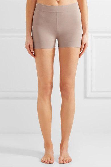 Alaïa - Stretch-knit Shorts - Sand - FR