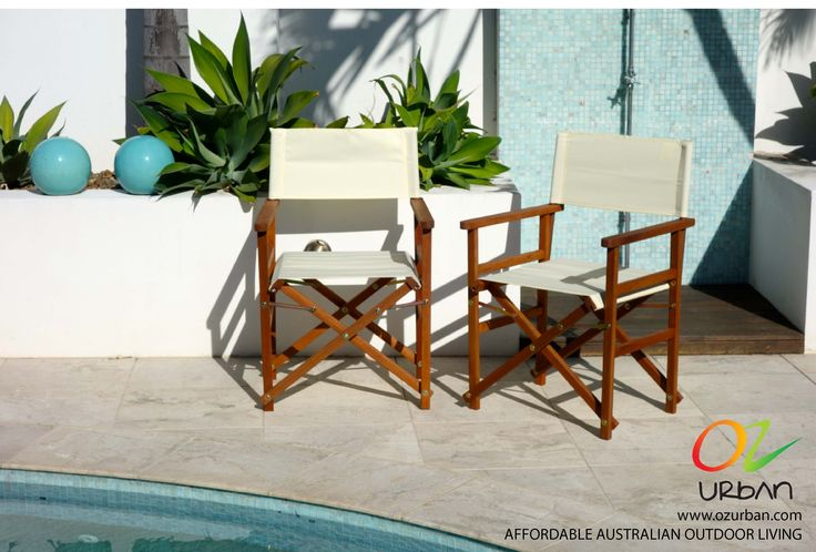 Directors Chairs are a classy way to improve outdoor living areas this summer.  Their stylish design and sleek compact fold away features make them a great outdoor furniture deal. If you're on a budget outdoor furniture hunt, these cheap outdoor furniture solutions are available at www.ozurban.com.   Discount online furniture store and quality designer outdoor furniture at the OzUrban Outdoor Furniture Sale.  www.ozurban.com  #outdoorfurniture #furnituredesign