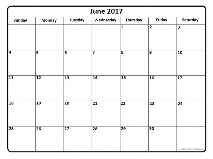 june simple calendar templates 2017 excel