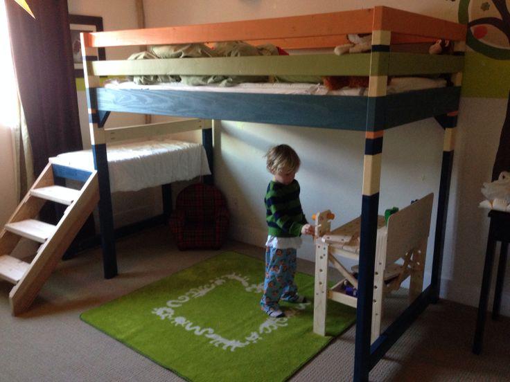25 Diy Bunk Beds With Plans: DIY Junior Loft Bunk Bed Play Area Brag Post #anawhite