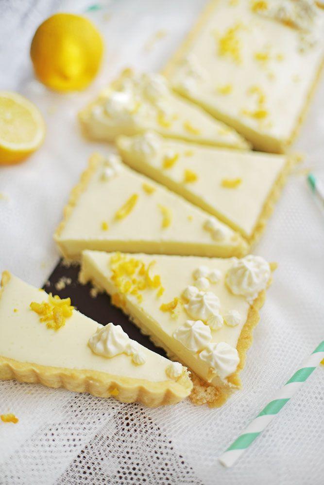 sinngestoeber: Zitronen-Buttermilch-Tarte