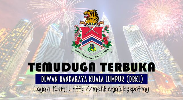 Temuduga Terbuka di Dewan Bandaraya Kuala Lumpur (DBKL) - 20 & 21 July 2016   Permohonan adalah dipelawa daripada WARGANEGARA MALAYSIA yang berkelayakan bagi menghadiri ujian lasak terbuka jawatan berikut: :  Temuduga Terbuka Terkini 2016diDewan Bandaraya Kuala Lumpur (DBKL)  Jawatan:  1. PENOLONG PEGAWAI PENGUATKUASA GRED KP292.PEMBANTU PENGUATKUASA GRED KP19  Tarikh Ujian Lasak:  Untuk jawatan 1 tarikh temuduga seperti berikut:  20 Julai 2016 (Hari Rabu)  Manakala untuk jawatan 2 tarikh…