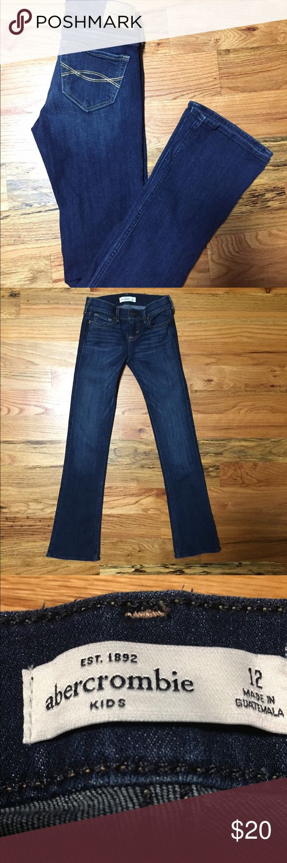 Abercrombie girls' jeans. Size 12. Excellent! Abercrombie girls' jeans. Size 12. Excellent! Great jeans!!  No signs of wash or wear. Smoke and pet free home. abercrombie kids Bottoms Jeans