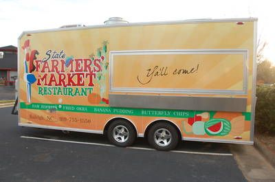 RALEIGH, NC.  The State Farmers Market Restaurant in Raleigh, NC has a mobile kitchen that allows it to literally take its food to go.