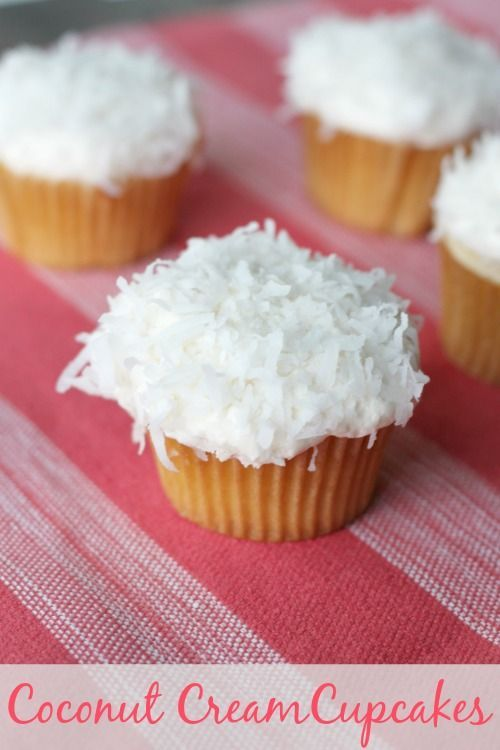 If you like coconut as much as I do, you're going to LOVE these semi-homemade Coconut Cream Cupcakes! Made from a doctored up cake mix and homemade buttercream frosting, these Coconut Cream Cupcakes are easy AND delicious!