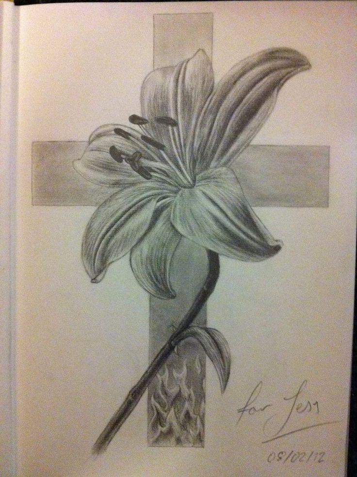 45 best tattoo images on pinterest for Flower cross tattoo