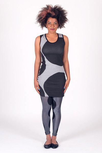 Spot Large - Side Seam Singlet Dress Short