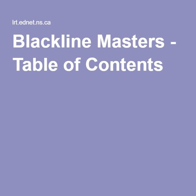 21 best layers of the earth images on pinterest teaching science blackline masters table of contents fandeluxe Image collections