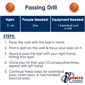 A simple drill to help develop passing fundamentals in #basketball. #youthsports #i9Sports