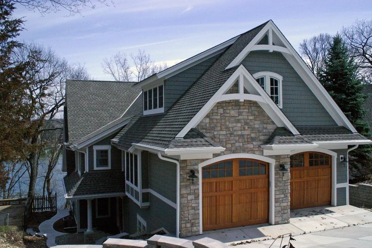 Weathered Wood Shingles Exterior Traditional with Brown Roof Birdhouses