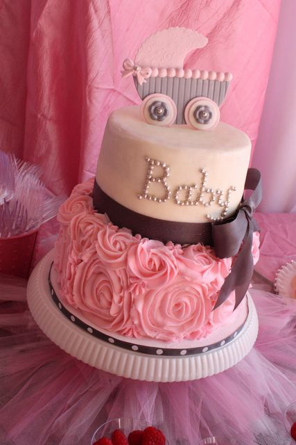 Wow, what an adorable baby shower cake!