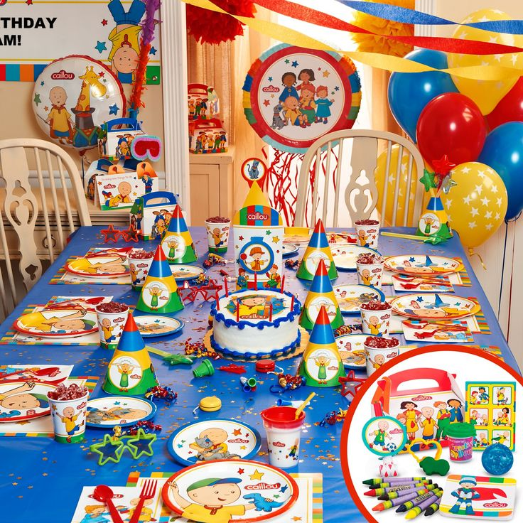 This looks like such a fun Caillou Party!
