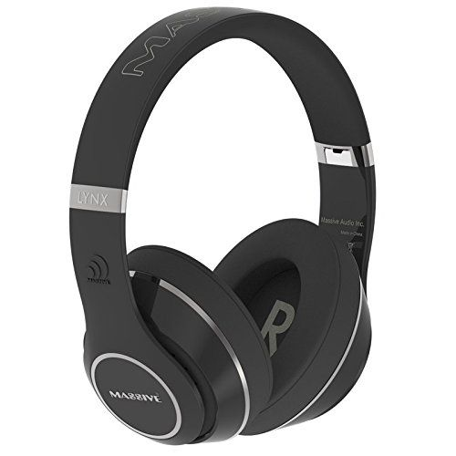 Massive Audio FLEX Bluetooth Headphones with built-in Microphone, Controls & Over-sized Drivers for heavy bass and sound quality (Black). High Quality Bluetooth Wireless Headphones. Oversized 57 mm speakers tuned for accurate sound reproduction and fantastic low frequency bass. Foldable hinges for easy travel and storage with Massive Audio Logo Carry Bag. Built-in omni-directional microphone for phone calls with noise cancellation. Auxiliary in and out to share music with your friends....