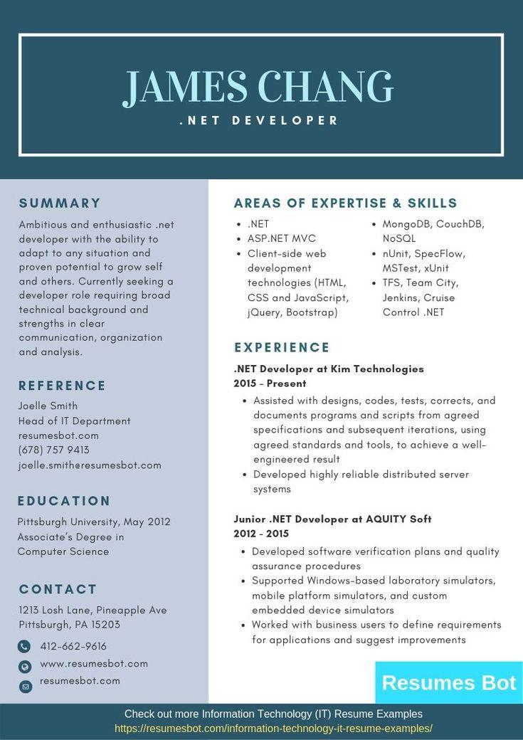 Developer Resume Samples & Templates [PDF+Word] 2019