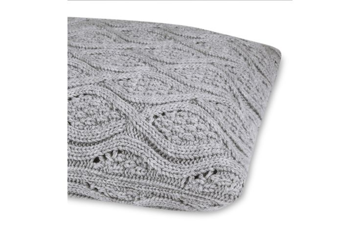 Payton Knitted Steel Cushion at Laura Ashley