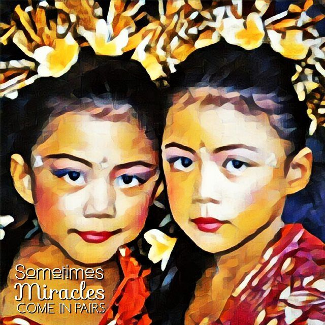 Miracles come in Pairs... #twinsisters #twins #photography #sketchphoto