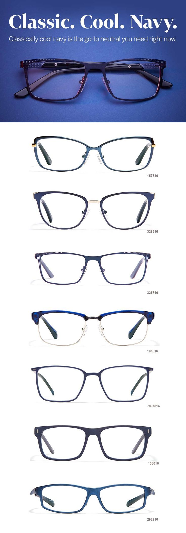 Perfect navy glasses to pair with your navy OOTD!
