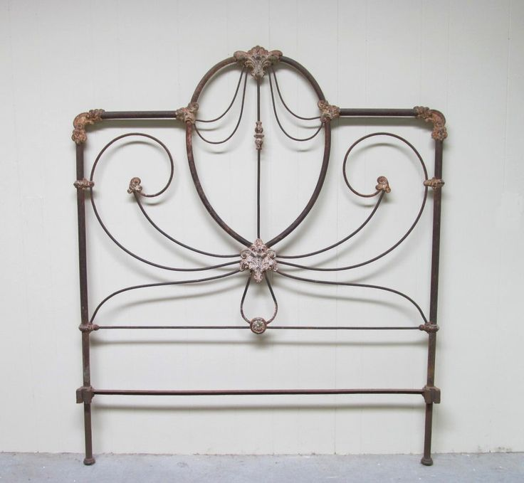 antique ornate iron bed frame c full by