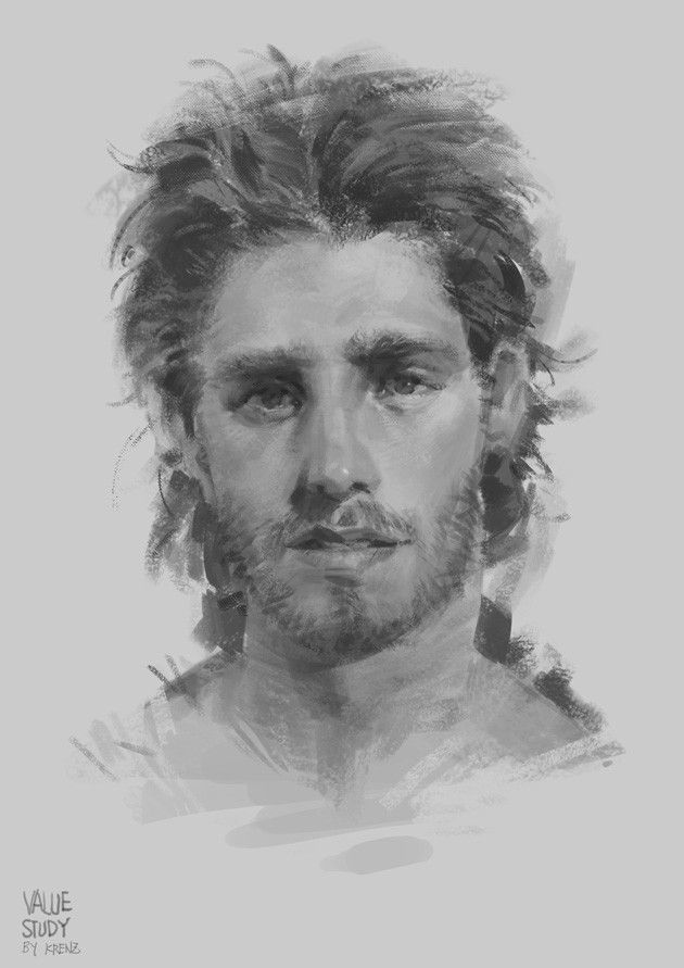 Study, Krenz Cushart on ArtStation at https://www.artstation.com/artwork/NrrWq