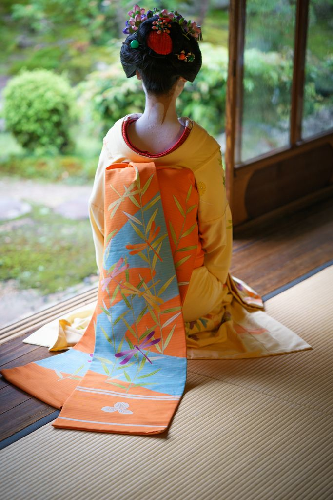 Darari obi of okiya Katsumi (Pontocho)