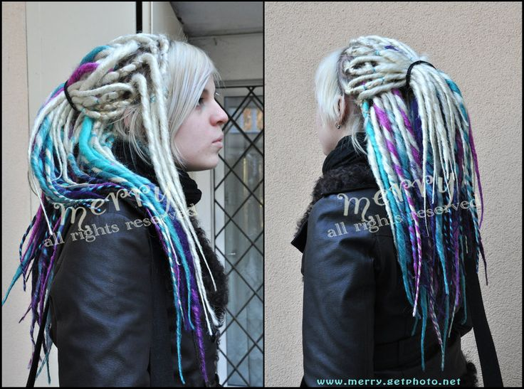Blond etc. synthetic dreads by ~Masquerade-Infernale on deviantART