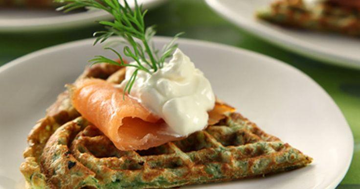 De grønne vafler passer også til en salat eller som et festlig mellemmåltid.