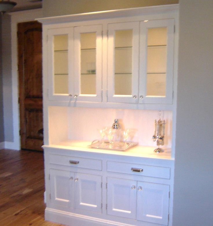 25 best built in buffet ideas on pinterest beige for Building kitchen cabinets in place