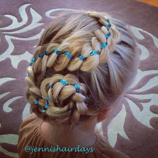 4-strand updo with ribbon by Jenni's Hairdays 4-osioinen nauhaletti