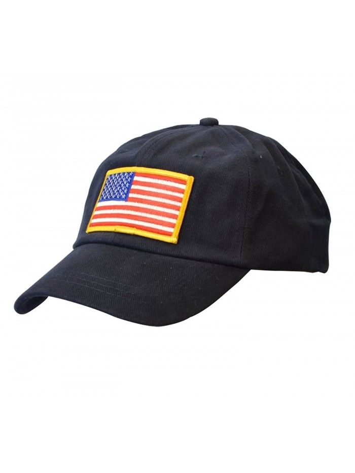 2d265c5a4dc USA Flag Embroidered Baseball Cap Cotton American Flag Patch Cap - Navy  Blue - CX12C8EFHJB - Hats   Caps