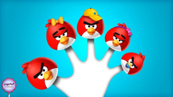 The Finger Family Angry Birds Song | Cake Pop Finger Family Song for kids