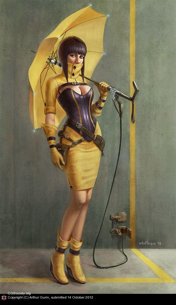 Желтый зонтик Артур Гурин | 2D | CGSociety