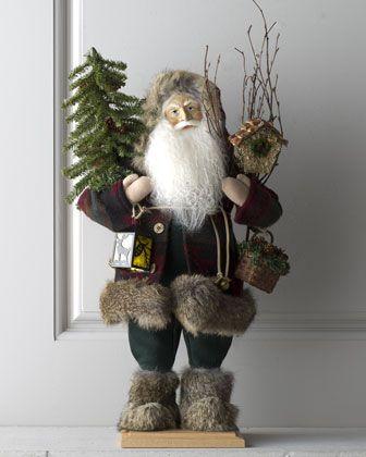 """Santa of Cedar Lodge"" Figure by Lynn Haney at Horchow."