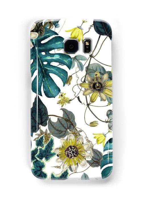 Samsung Galaxy Cases & Skins Tropical Flowers by talipmemis