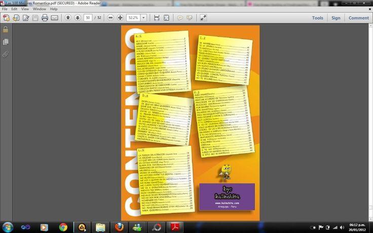 Hola! Amigos en esta ocacion les traigo 5 libros en pdf muy buenos.El primero es un libro de las 100 canciones mas romanticas para guitarra.El segundo...