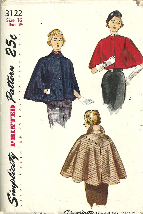 Vintage Forties Sewing Pattern from Simplicity 3122 Size 18 Bust 36 ...