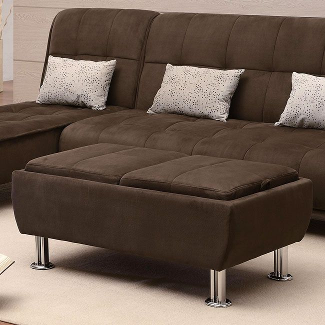 Completely casual and absurdly comfortable, this modern styled Brown Microfiber Sofa Bed Collection by Coaster Furniture will introduce your home to the importance of casual comfort and easy convenience. Designed with plush padded cushions that feature a pillow-top look, this transitional sleeper sofa collection casts an inviting aura that is complete with relaxed seam details and silver-colored cylinder feet.