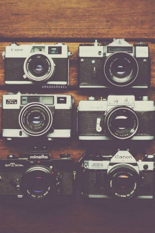 Camera Collection - By: (Amanda Mabel) via designlovely.tumblr.com