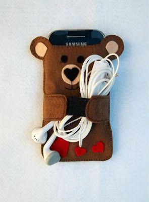 Cubierta del teléfono celular del oso