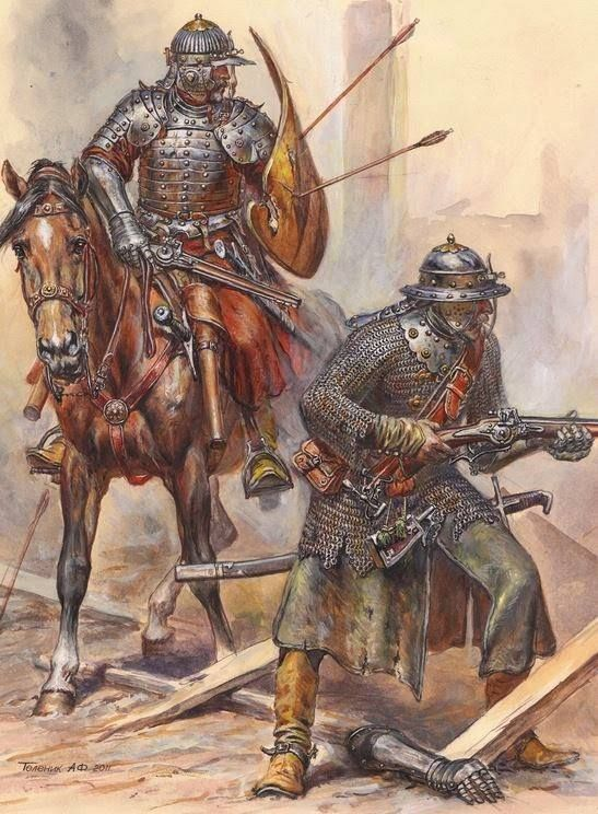 Polish hussar and Musketeer at the battle of Vienna