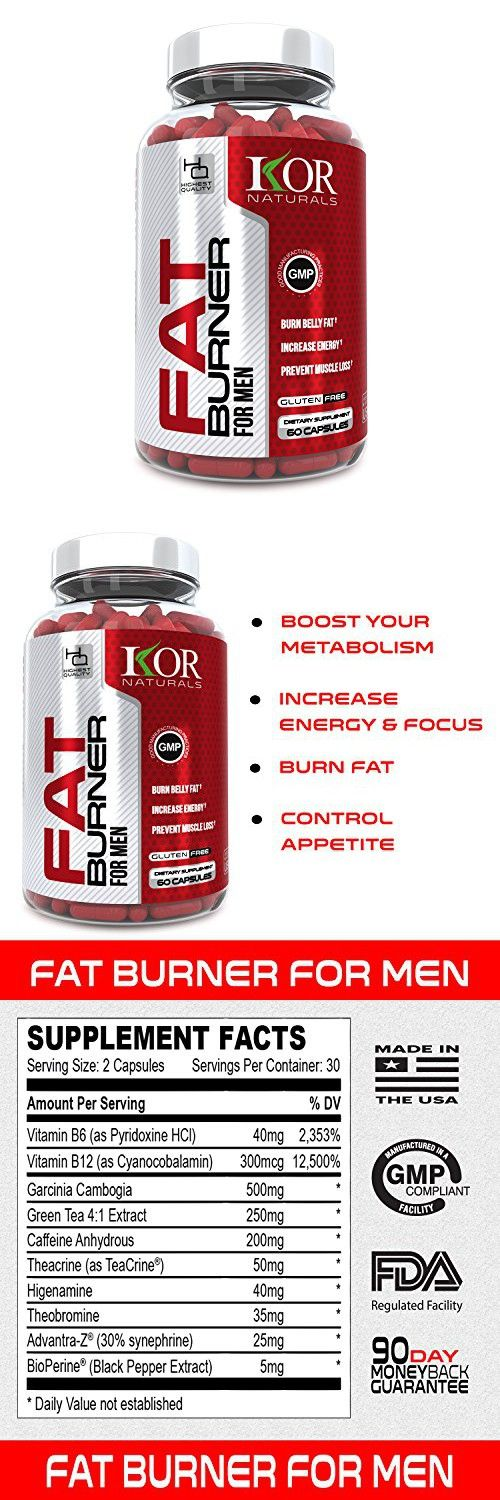 KOR - Thermogenic Fat Burner Pills for Men - Burn Fat with our Premium Weight Loss Diet Pills - Guaranteed Results - 60 caps