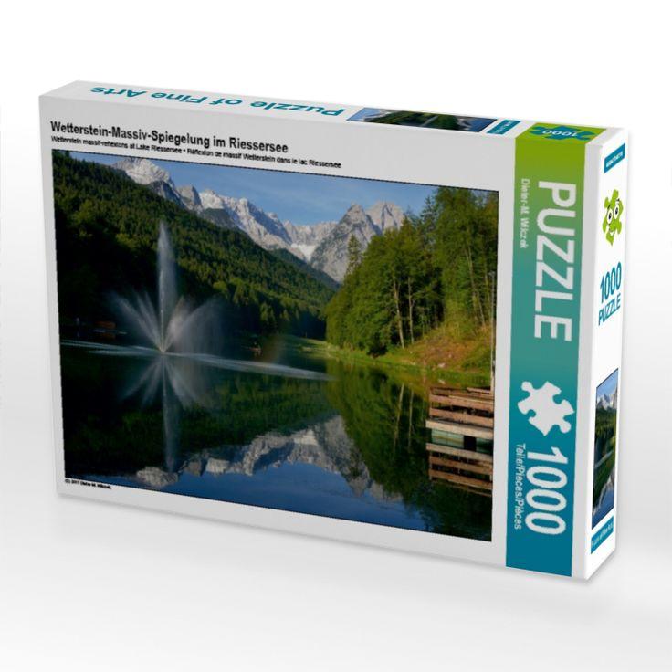 Wetterstein-Massiv-Spiegelung im Riessersee (Puzzle) - CALVENDO