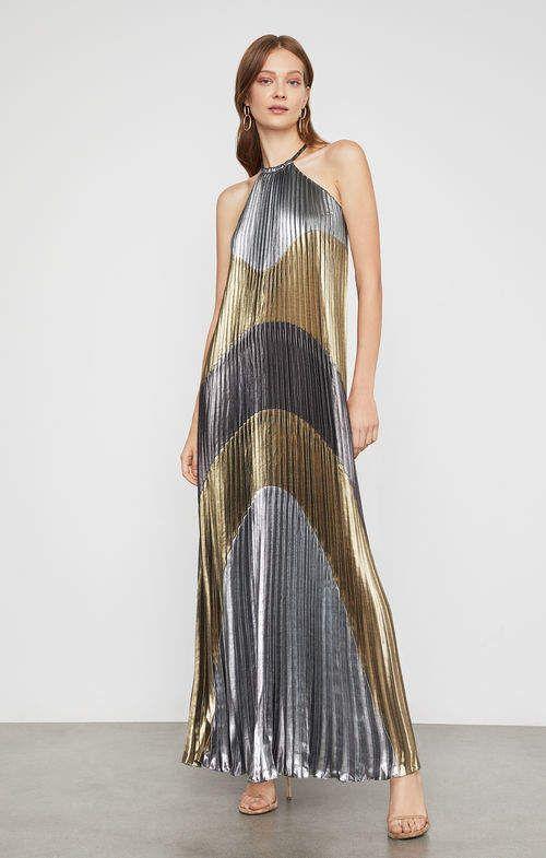 e5e7fdf97ae BCBGMAXAZRIA Metallic Colorblocked Pleated Gown   Products in 2019 ...