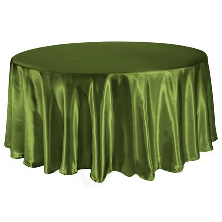 TCSN-120WL 120 Inch Round Satin Willow Green Tablecloth $7.99