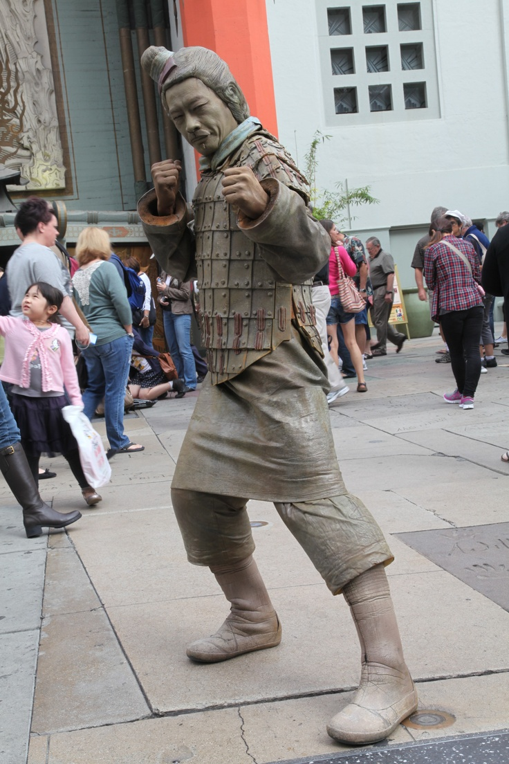 Jarry, our favorite Terra Cotta Warrior strikes a pose in Hollywood!