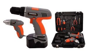 Groupon - 12V Cordless Power Drill 3.6V with Cordless Screwdriver 20-Piece Set. Groupon deal price: £39.98